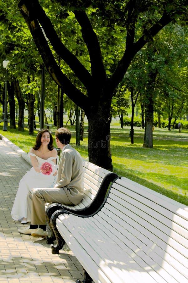 Ménages mariés sur le branchement photo libre de droits