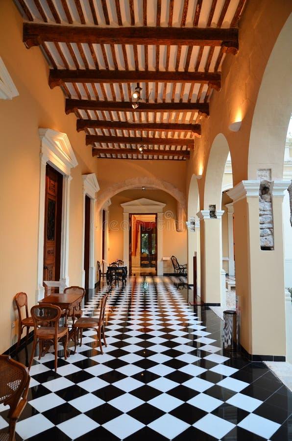 Mérida, Mexique - MARS 19,2014 : Cour de la construction des Gouverneurs images libres de droits