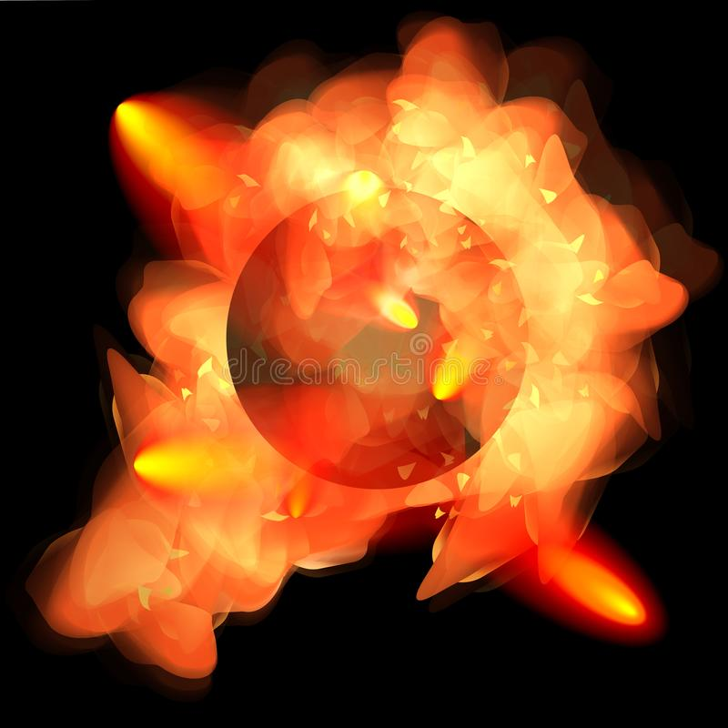 Météore brûlant dans l'atmosphère illustration de vecteur