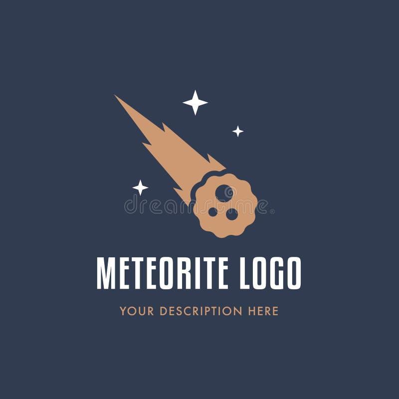 Météorite avec la pluie d'étoile illustration de vecteur