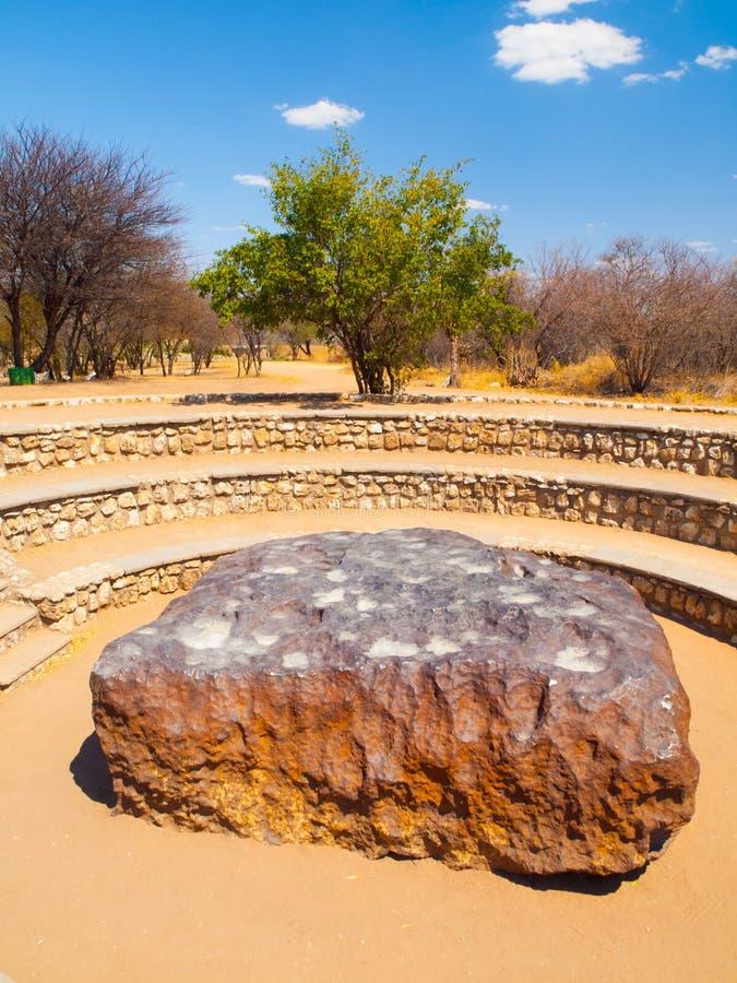 Météorite de Hoba trouvée en Namibie photo stock
