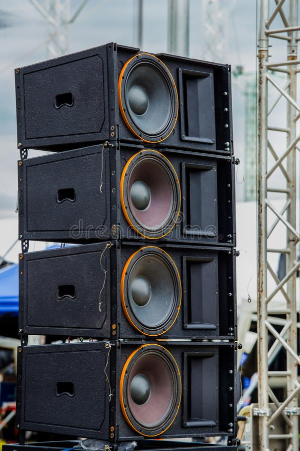 Métal, acier, Thaïlande, haut-parleur, concert images stock