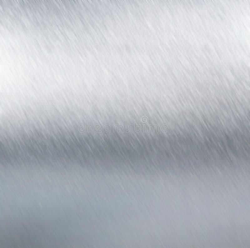 Métal argenté balayé. illustration stock