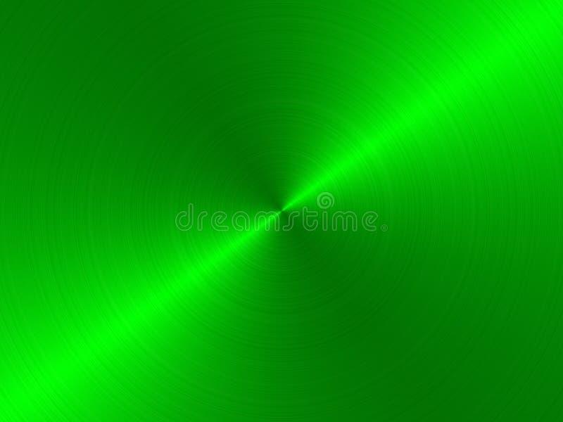 Métal balayé circulaire - vert illustration de vecteur