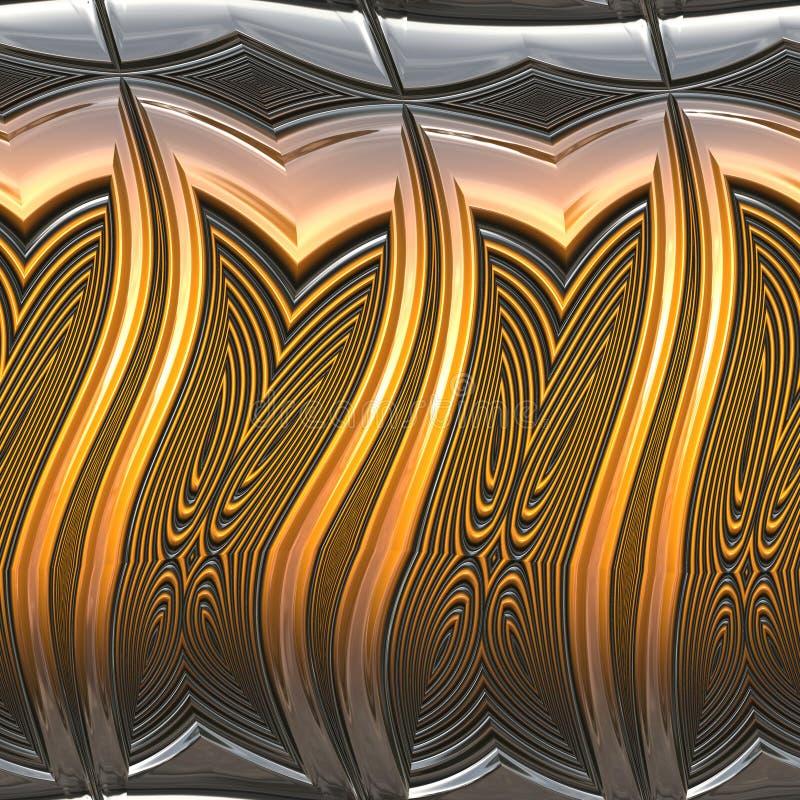 métal brillant illustration libre de droits