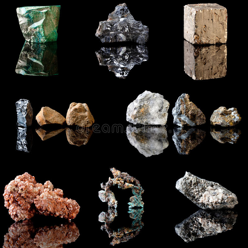 Métal contenant des minerais photos stock