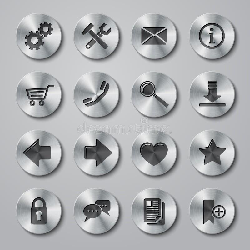 Métal d'icônes de site Web illustration libre de droits