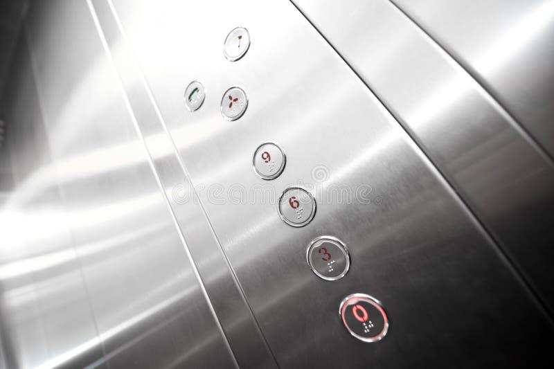 métal d'intérieur d'ascenseur photo libre de droits