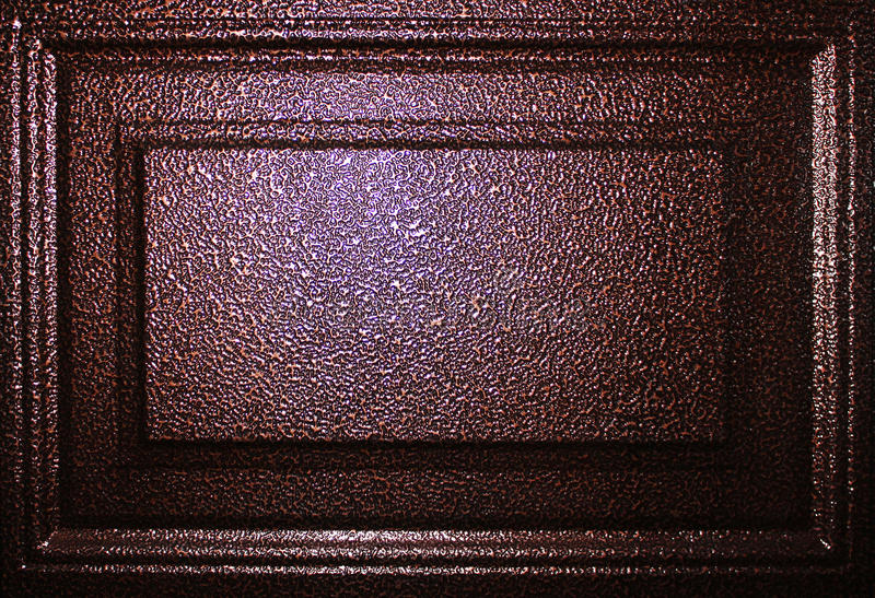 Métal de Brown photographie stock