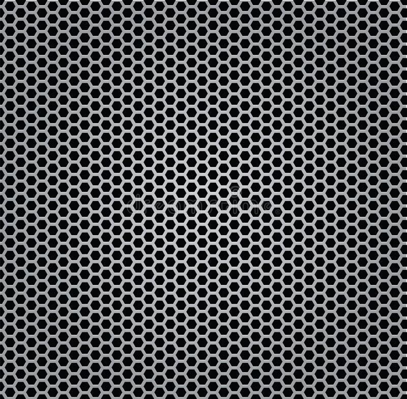 Métal de gril de texture de chrome d'isolement illustration libre de droits