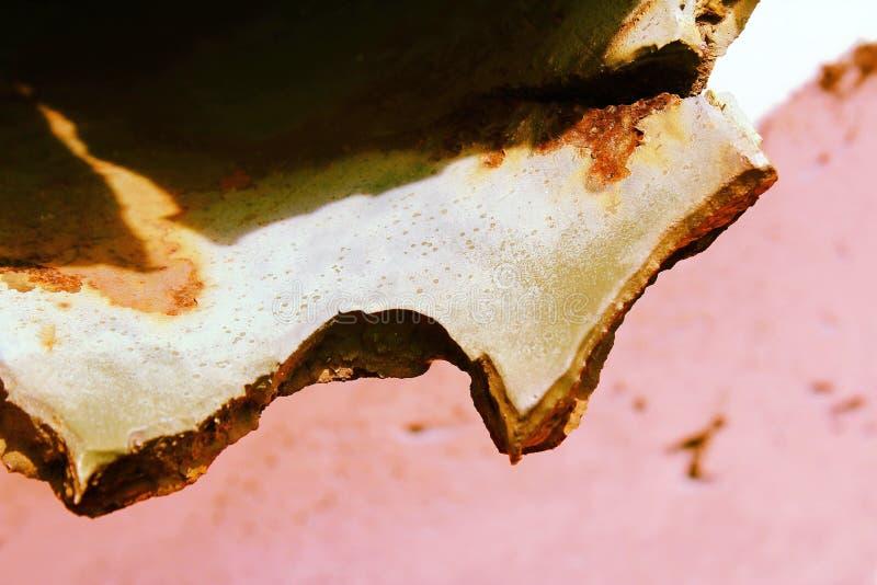 Métal de puce Surface marquée Une partie de l'avion Détail tordu photos libres de droits