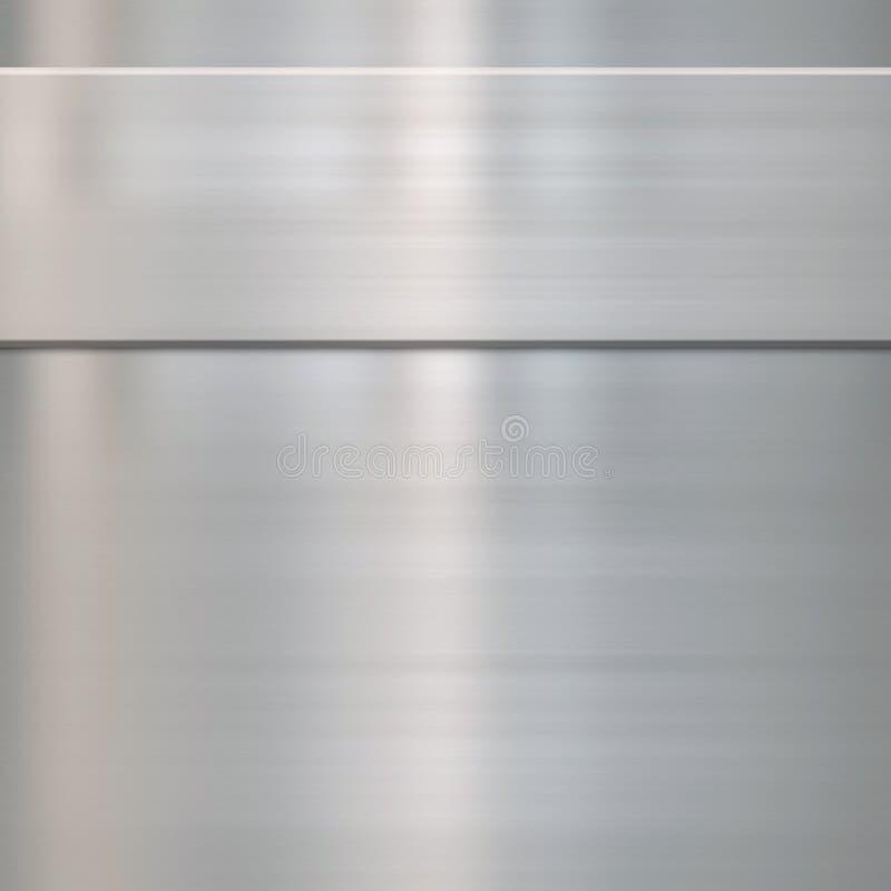Métal en acier balayé par amende illustration stock