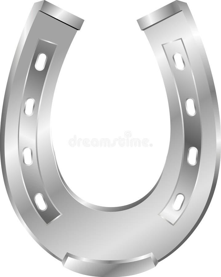métal en fer à cheval illustration stock