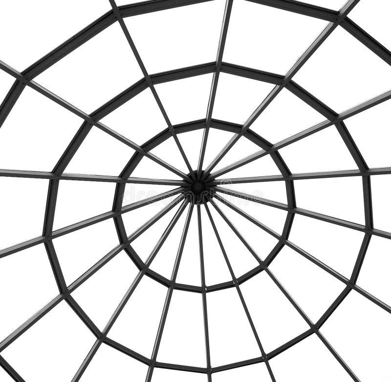 Métal et détails en verre de l'intérieur d'un buil moderne de bureau images libres de droits