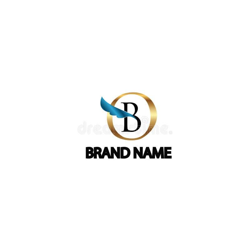 Métal moderne d'ange du logo b photos libres de droits