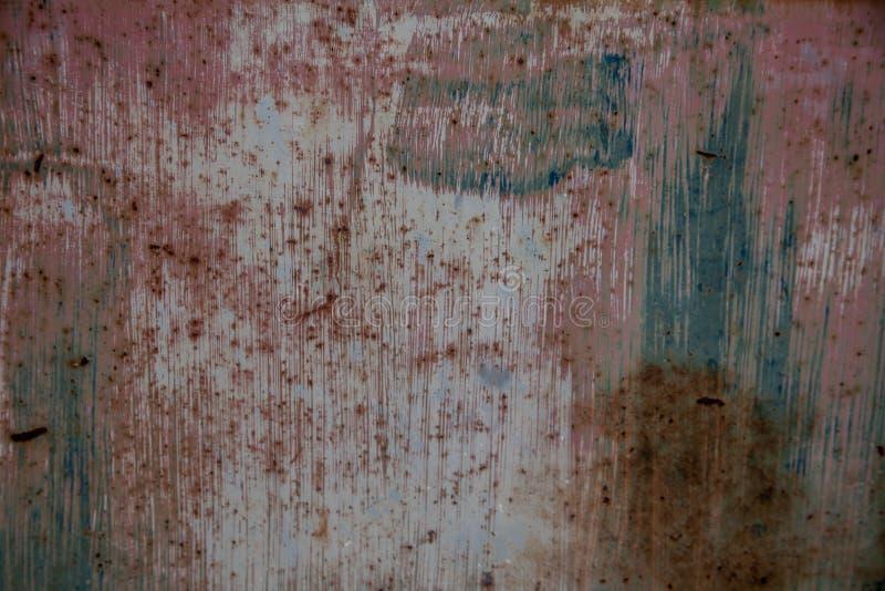 Métal multicolore de patine pour le fond ou la texture photo stock