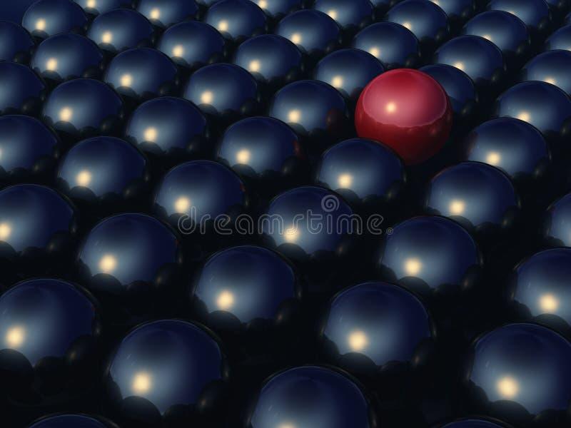 Métal rouge une seule sphère illustration stock