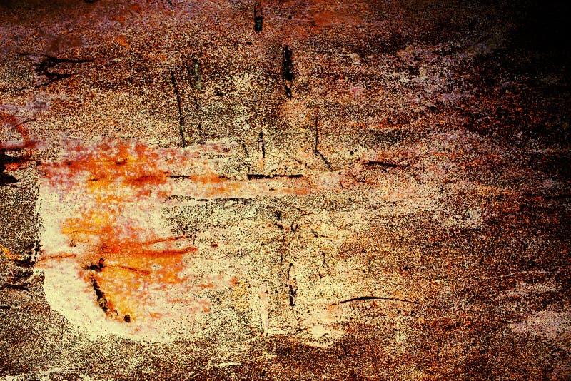 Métal rouillé avec la vieille peinture criquée photos libres de droits
