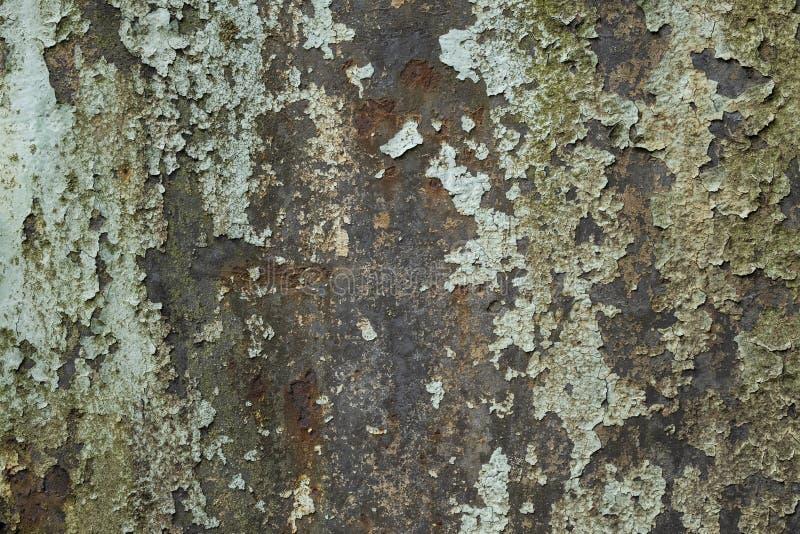 Métal rouillé et épluchage de la texture de peinture photo libre de droits
