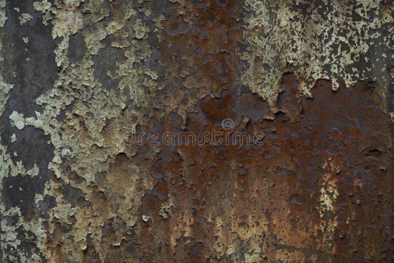 Métal rouillé et épluchage de la texture de peinture images libres de droits