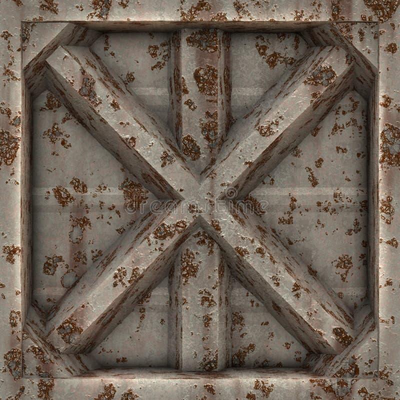 Métal usé X illustration de vecteur