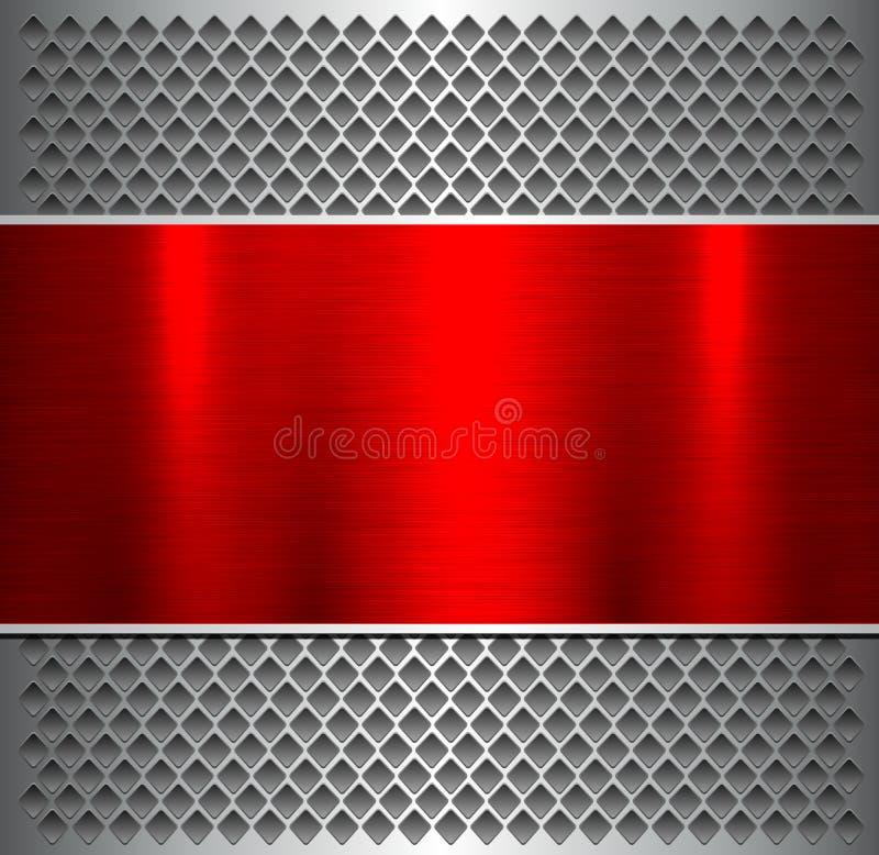 Métallique rouge argenté de fond illustration stock