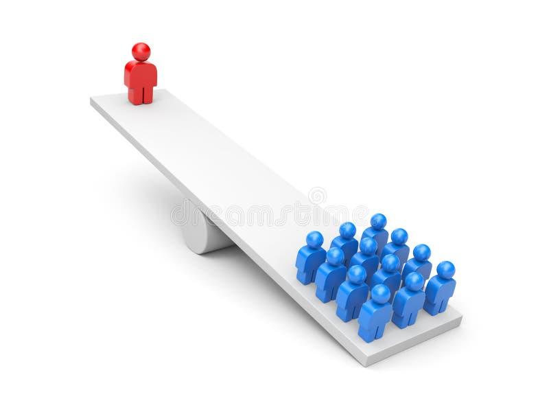 métaphore de conduite de concept d'affaires d'équilibre illustration libre de droits