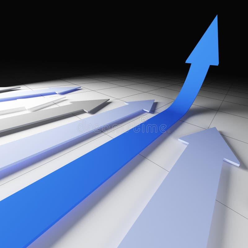 Métaphore financière de graphique illustration stock