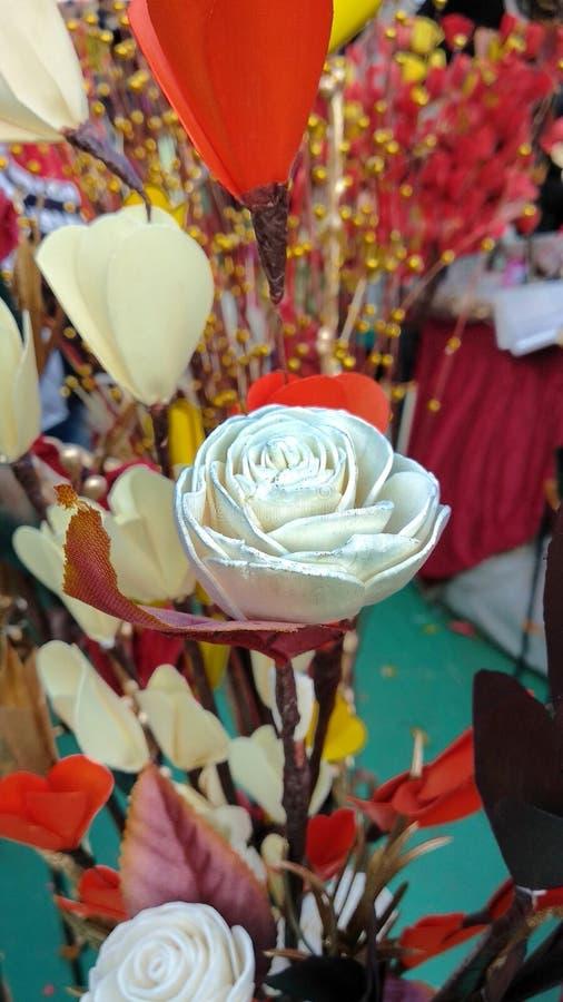 Métier de rose de blanc photographie stock