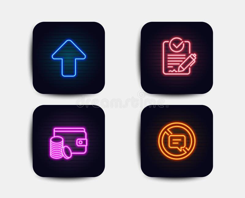 Método do pagamento, ícones do Rfp e da transferência de arquivo pela rede Pare de falar o sinal Vetor ilustração do vetor