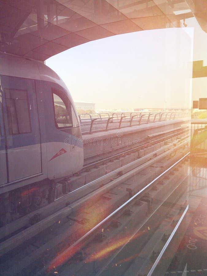 Métro de Dubaï images stock