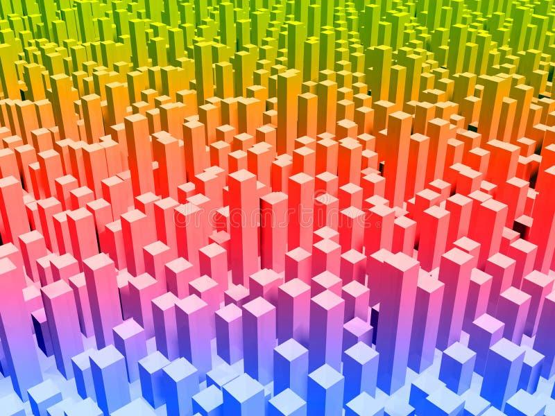 Métropole en couleurs illustration libre de droits