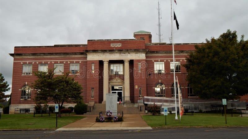 Métropole l'Illinois de tribunal du comté de Massac photos libres de droits