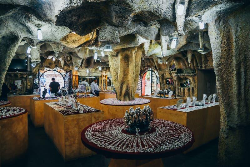 MÉXICO - 22 DE SETEMBRO: Jewely e loja da prata construída para dentro de imagens de stock