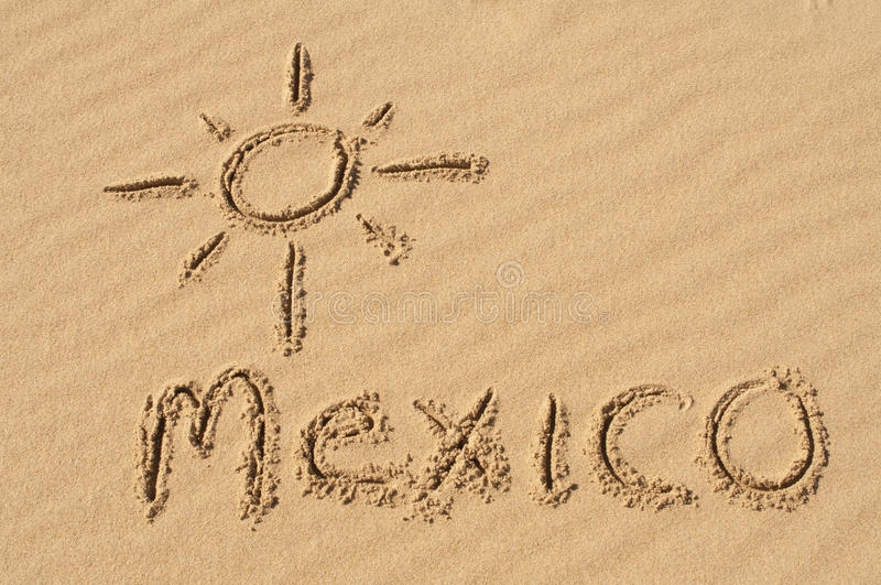 México en la arena imágenes de archivo libres de regalías