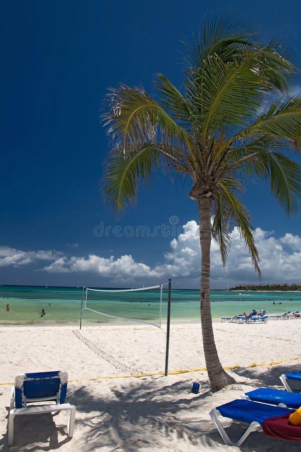 México en red de la playa imagen de archivo