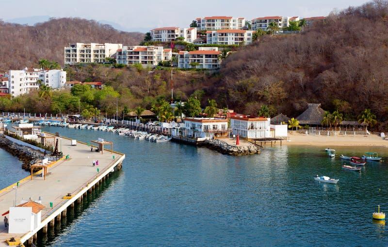 méxico O porto de Huatulco fotografia de stock