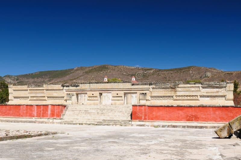 Ruinas mayas de Mitla en México imagenes de archivo