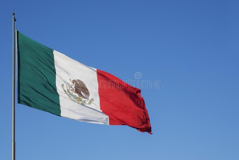 México's flaga obraz stock