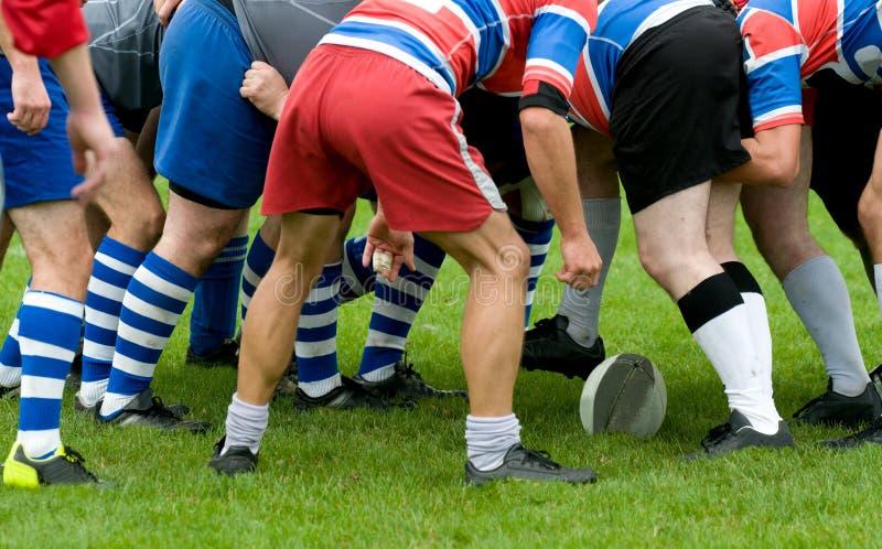 Mêlée de rugby photographie stock libre de droits