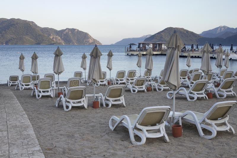 Même la plage de Marmaris photo stock
