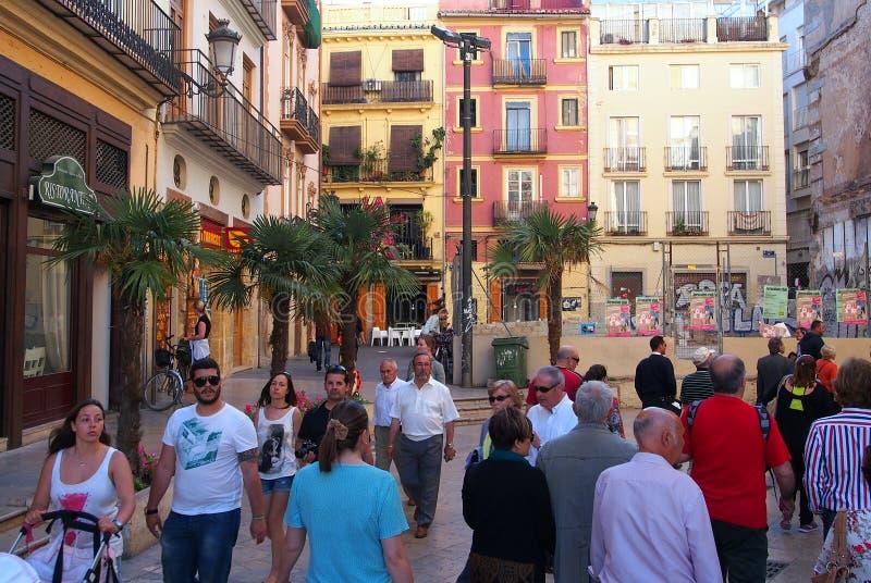 Même la promenade, Valence, Espagne images libres de droits