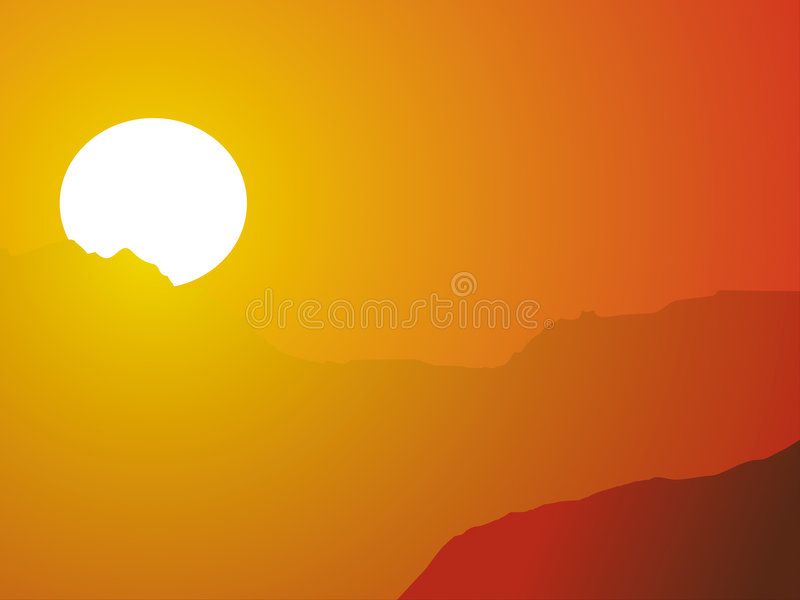 Même le soleil chaud comme backgroun illustration de vecteur
