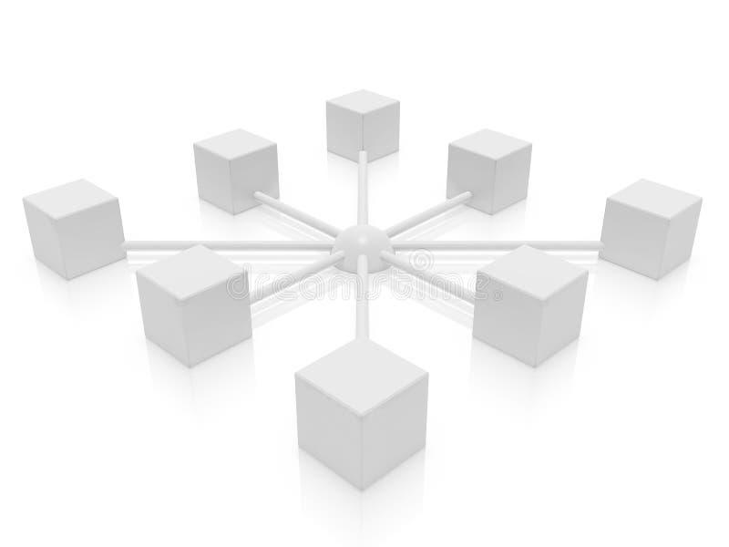 Même réseau illustration de vecteur