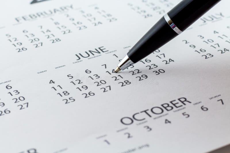 Mês da semana do dia do planejador da data de calendário fotos de stock
