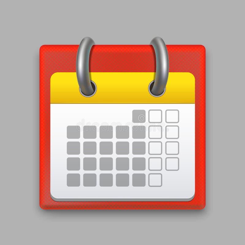 Mês de calendário detalhado realístico Vetor ilustração do vetor