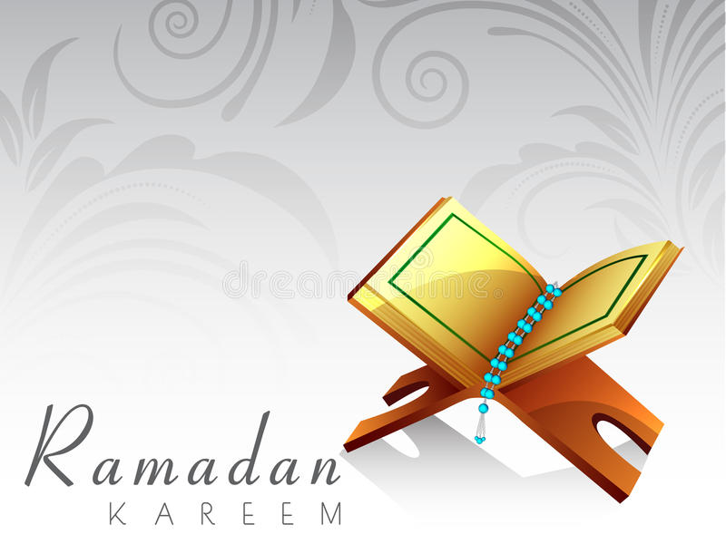 Mês santamente da comunidade muçulmana de Ramadan Kareem. ilustração do vetor