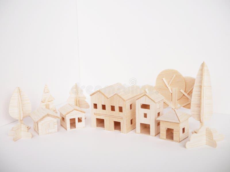 Mínimo hecho a mano del corte del arte modelo de madera miniatura de las ilustraciones foto de archivo
