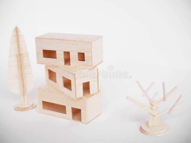 Mínimo hecho a mano del corte del arte modelo de madera miniatura de las ilustraciones imagenes de archivo