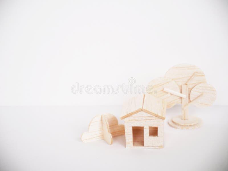 Mínimo hecho a mano del corte del arte modelo de madera miniatura de las ilustraciones foto de archivo libre de regalías